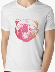 Colorful Bear  Mens V-Neck T-Shirt