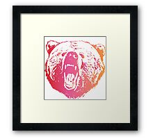 Colorful Bear  Framed Print