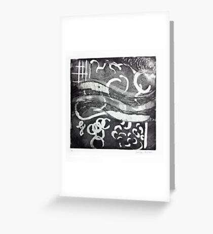 Music, etching 1986 Greeting Card