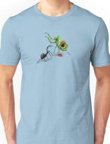 Praying Mantis Vs Black Widow Unisex T-Shirt