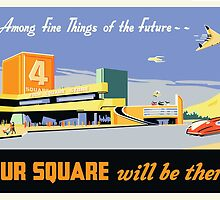 Four Square Fine Things Poster by Darian  Zam