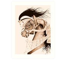 Bulven Horse Art Print