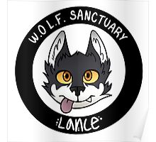W.O.L.F. Sanctuary Lance Sticker Poster
