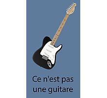 Ce n'est pas une guitare Photographic Print