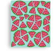 Watermelon Slice Party Canvas Print