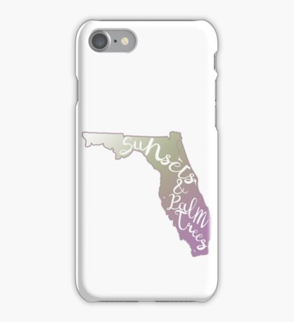 Florida- Sunsets and Palm Trees iPhone Case/Skin