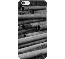 Pipes - Black and White iPhone Case/Skin