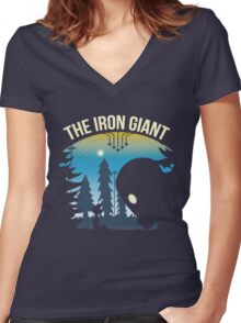 The Iron Giant Women's Fitted V-Neck T-Shirt