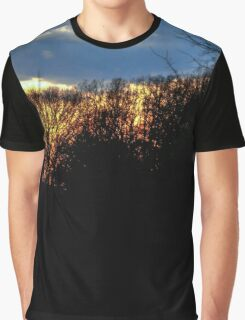Cloudy Tree Tops Graphic T-Shirt
