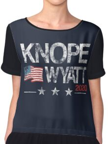 Knope 2020 Distressed Chiffon Top