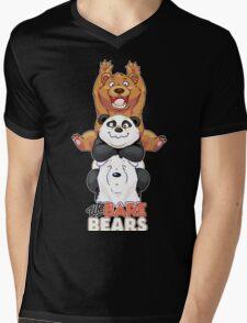 Funny We Bare Bears Mens V-Neck T-Shirt