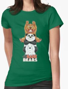 Funny We Bare Bears Womens Fitted T-Shirt