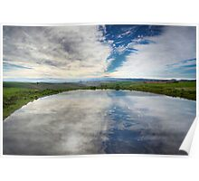 Pond Reflection - Barrabool Hills Poster