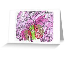 Happy Unicorn Waterfall Greeting Card