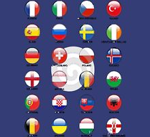countries join the euro cup 2016 Unisex T-Shirt