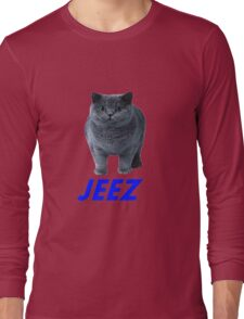 jeez what a cool cat Long Sleeve T-Shirt