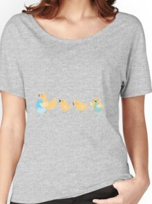 Easter Mother Chicken and Baby Chicks Women's Relaxed Fit T-Shirt