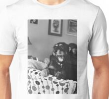 Dexter in Black and White Unisex T-Shirt