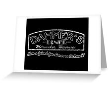 Jeffrey Dahmer - Dahmer's Diner Greeting Card