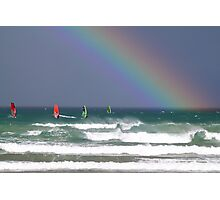 Board Sailing with Rainbows Photographic Print