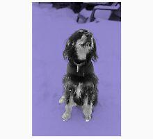 Dexter in the snow - Purple Unisex T-Shirt