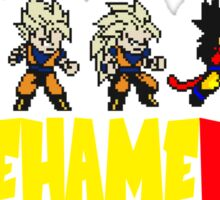 Dragon Ball Z Son Goku Super Saiyan Evolution 8-bit Sticker