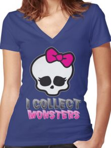 Monster Collector - Monster High Doll Shirt Women's Fitted V-Neck T-Shirt