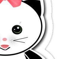 A beautiful picture a cat. Sticker