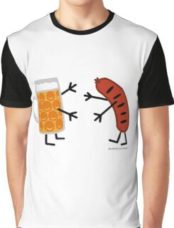 Beer & Bratwurst - Funny Friendly Foods Graphic T-Shirt