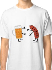 Beer & Bratwurst - Funny Friendly Foods Classic T-Shirt