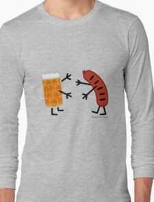 Beer & Bratwurst - Funny Friendly Foods Long Sleeve T-Shirt