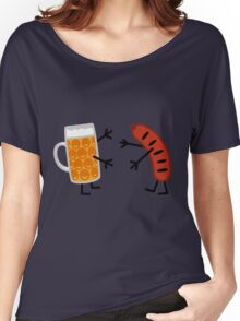 Beer & Bratwurst - Funny Friendly Foods Women's Relaxed Fit T-Shirt