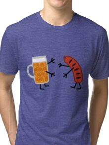 Beer & Bratwurst - Funny Friendly Foods Tri-blend T-Shirt