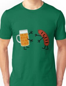Beer & Bratwurst - Funny Friendly Foods Unisex T-Shirt