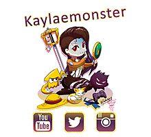 Kayla_social icons Photographic Print