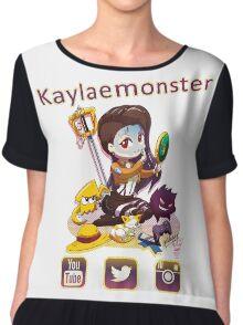 Kayla_social icons Chiffon Top