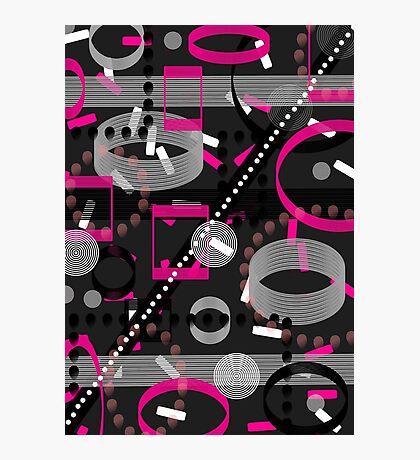 Florescent Pink Black Vector  Photographic Print