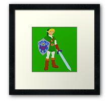 Ocarina of Time - Adult Link Framed Print