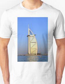 Photography of Burj al Arab hotel from Dubai. United Arab Emirates. Unisex T-Shirt