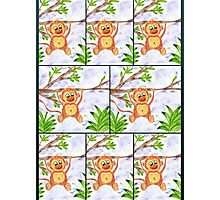 Jungle Monkey Fun Pattern Photographic Print