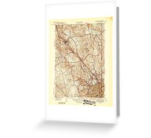 USGS TOPO Map Rhode Island RI Pawtucket 353436 1944 31680 Greeting Card