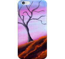 Solitary Tree Pink Sky iPhone Case/Skin