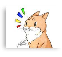 Surprised Kitty Canvas Print