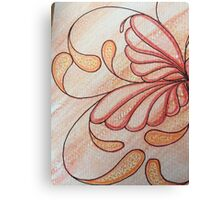 Sues Amber Butterfly Lily Canvas Print