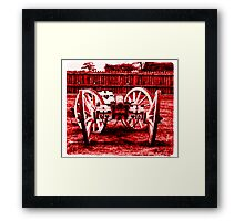 Big Red Love Gun Framed Print