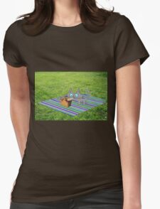 Cat Enjoying A Summer Day Womens Fitted T-Shirt