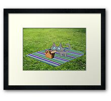 Cat Enjoying A Summer Day Framed Print