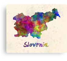 Slovenia in watercolor Canvas Print