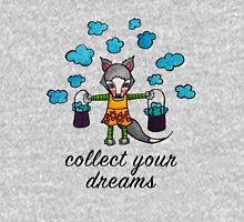 Collect Your Dreams: Cute Whimsical Wolf Watercolor Illustration Womens Fitted T-Shirt