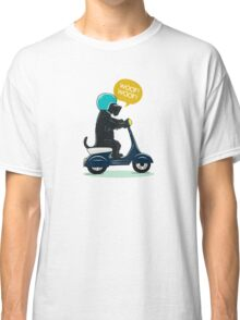 Scottish terrier riding a scooter Classic T-Shirt